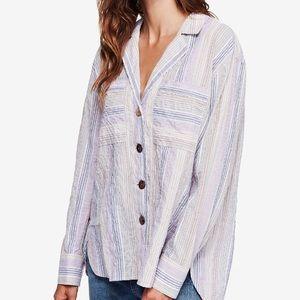 ✨FP Hightide Striped Oversized Shirt